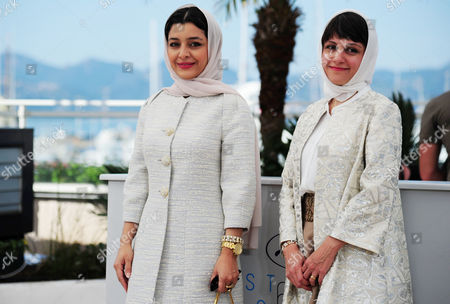 'Nahid' Photocall at the Palais Des Festivals During the 68th Cannes Film Festival Sareh Bayat and Director Ida Panahandeh