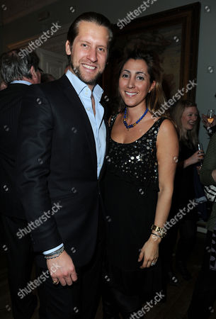 'No Angel' Book Launch Party at Dartmouth House Charles Street Jake Parkinson-smith with His Wife Samira Parkinson-smith