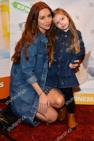 'Norm of the North' (out March18th 2016) Vip Screening at the Empire Leicester Square Una Healy with Her Daughter Aoife Belle