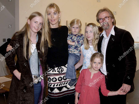 'Notting Hill Cookbook' Book Party at 216 Ladbrook Grove Carina Cooper with Her Franc Roddam and Daughters Ithaka Flynn Sidonie and Zazou