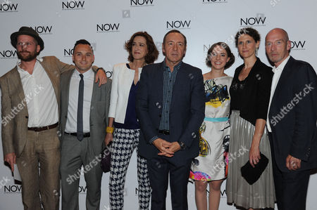 'Now: in the Wings On A World Stage' Uk Premiere at the Empire Leicester Square Director Jeremy Whelehan Simon Lee Phillips Haydn Gwynne Kevin Spacey Katherine Manners Hannah Stokely and Gary Powell