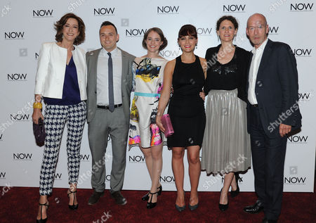 'Now: in the Wings On A World Stage' Uk Premiere at the Empire Leicester Square Haydn Gwynne Simon Lee Phillips Katherine Manners Annabel Scholey Hannah Stokely and Gary Powell