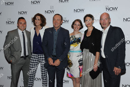 Stock Photo of 'Now: in the Wings On A World Stage' Uk Premiere at the Empire Leicester Square Simon Lee Phillips Haydn Gwynne Kevin Spacey Katherine Manners Hannah Stokely and Gary Powell