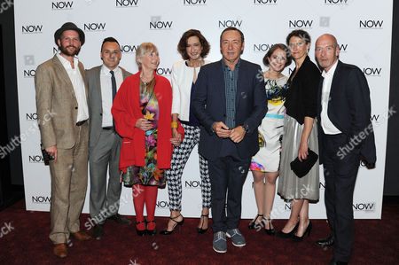 Stock Image of 'Now: in the Wings On A World Stage' Uk Premiere at the Empire Leicester Square Director Jeremy Whelehan Simon Lee Phillips Gemma Jones Haydn Gwynne Kevin Spacey Katherine Manners Hannah Stokely and Gary Powell