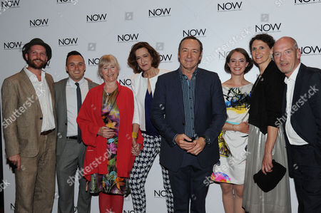 Stock Picture of 'Now: in the Wings On A World Stage' Uk Premiere at the Empire Leicester Square Director Jeremy Whelehan Simon Lee Phillips Gemma Jones Haydn Gwynne Kevin Spacey Katherine Manners Hannah Stokely and Gary Powell