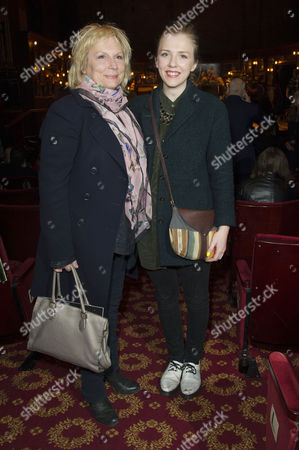 Stock Picture of 'Once' Vip Gala Night in Aid of Oxfam at the Phoenix Theatre Jennifer Saunders with Her Daughter Ella Edmondson