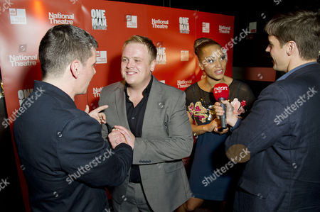 'One Man Two Guvnors' Cast Change Press Night After Party at Mintleaf Nigel Harman Owain Arthur and Angela Griffin