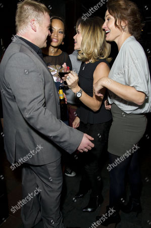 'One Man Two Guvnors' Cast Change Press Night After Party at Mintleaf Owain Arthur Angela Griffin Amanda Holden and Sarah Parish
