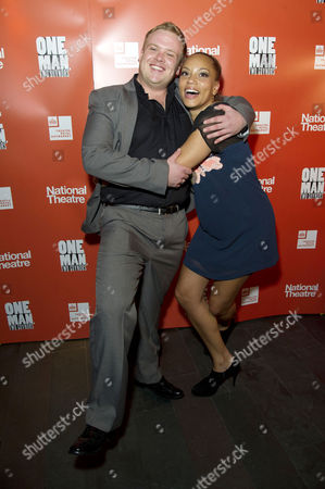 'One Man Two Guvnors' Cast Change Press Night After Party at Mintleaf Owain Arthur and Angela Griffin