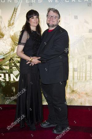 'Pacific Rim' European Premiere at the Bfi Imax Waterloo Guillermo Del Toro with His Wife Lorenza Newton
