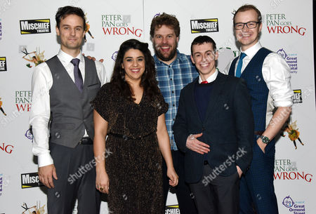 'Peter Pan Goes Wrong' Press Night Afterparty at the Rah Rah Club Piccadilly Henry Shields Nancy Wallinger Henry Lewis Jonathan Sayer and Greg Tannahill