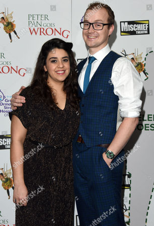 Stock Picture of 'Peter Pan Goes Wrong' Press Night Afterparty at the Rah Rah Club Piccadilly Nancy Wallinger and Greg Tannahill