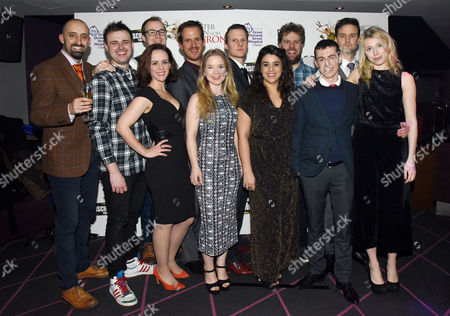 'Peter Pan Goes Wrong' Press Night Afterparty at the Rah Rah Club Piccadilly Cast - Tom Edden Chris Leak Dave Hearn Nancy Wallinger Henry Shields Henry Lewis Jonathan Sayer and Greg Tannahill Charlie Russell Jonathan Sayer Rosie Abraham Ellie Morris