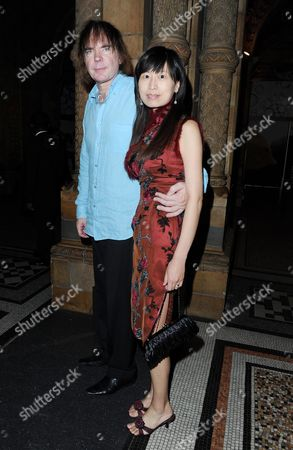 'Phantom of the Opera' 25th Anniversary Afterparty at the Natural History Museum Julian Lloyd Webber with His Wife Jiaxin Cheng