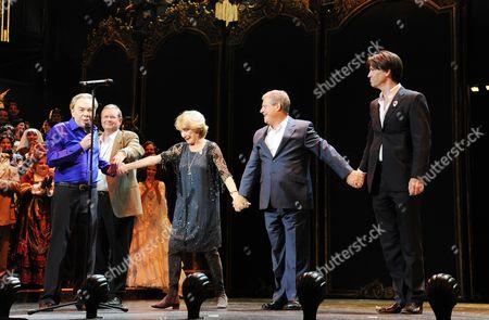 'Phantom of the Opera' 25th Anniversary Performance Curtain Call at the Royal Albert Hall Andrew Lloyd Webber Gillian Lynne Cameron Mackintosh and Charles Hart (original Creative Team)