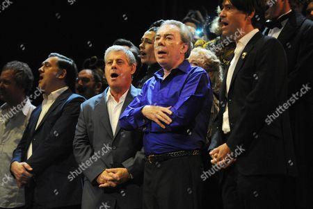 'Phantom of the Opera' 25th Anniversary Performance Curtain Call at the Royal Albert Hall Cameron Mackintosh and Andrew Lloyd Webber