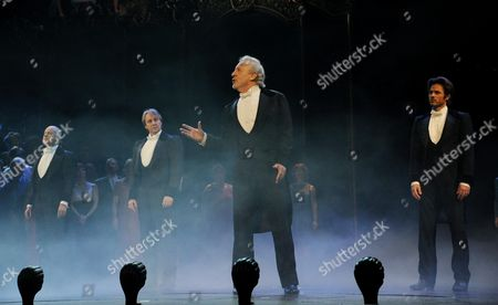 'Phantom of the Opera' 25th Anniversary Performance Curtain Call at the Royal Albert Hall 4 Actors That Have Played the Phantom (l-r) Anthony Warlow John Owen-jones Colm Wilkinson and Peter Joback