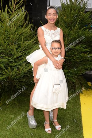 Gala Screening of 'Planes 2: Fire & Rescue' at the Odeon Leicester Square Jade Ellis with Her Daughter Caiden