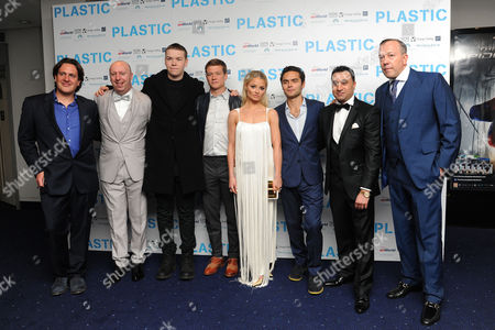 'Plastic' Premiere at the Odeon Westend Julian Gilbey Chris Howard Will Poulter Ed Speleer Emma Rigby Sebastian De Souza Saqib Ahmed and Terry Stone