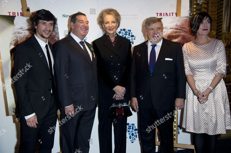 'Plot For Peace' Screening at the Curzon Mayfair Director Carlos Aguilo Ivor Ichikowitz Princess Michael of Kent Jean-yves Ollivier and Director Mandy Jacobson