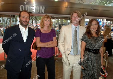 The Uk Charity Premiere of 'Pride and Prejudice' at the Odeon Leicester Square David Macmillan with His Wife Arabella and Mark Getty with His Wife