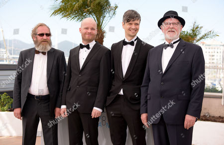 'Rams' Photocall at the Palais Des Festivals During the 68th Cannes Film Festival Sigurdur Sigurjonsson Grimur Hakonarson and Theodor Juliusson