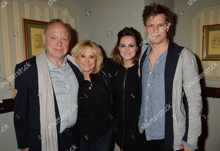 'Relatively Speaking' Press Night at Wyndham's Theatre Charing Cross Road Jonathan Coy Felicity Kendal Kara Tointon and Max Bennett