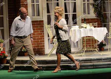 'Relatively Speaking' Press Night at Wyndham's Theatre Charing Cross Road Curtain Call - Jonathan Coy and Felicity Kendal