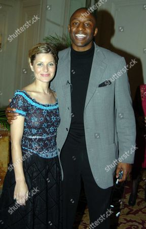 'Renaissance Feet' Club Dinner and Fashion Show at the Mandarin Oriental Hotel in Aid Great Ormond Street Hospital Rosie Fellner and John Fashanu