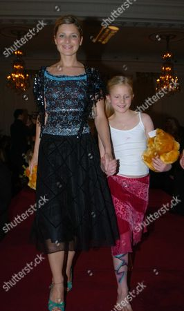 'Renaissance Feet' Club Dinner and Fashion Show at the Mandarin Oriental Hotel in Aid Great Ormond Street Hospital Rosie Fellner and Another Model On the Catwalk
