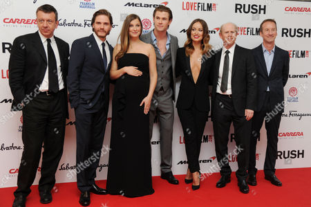 'Rush' World Premiere at the Odeon Leicester Square Peter Morgan Daniel Bruhl Alexandra Maria Lara Chris Hemsworth Olivia Wilde Director Ron Howard and Producer Andrew Eaton