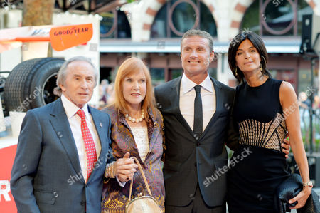'Rush' World Premiere at the Odeon Leicester Square Sir Jackie and Lady Helen Stewart and David Coulthard with His Partner Karen Minier