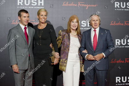 'Rush' World Premiere After Party at One Marylebone Paul Stewart with His Wife Victoria and His Parents Sir Jackie and Lady Helen Stewart