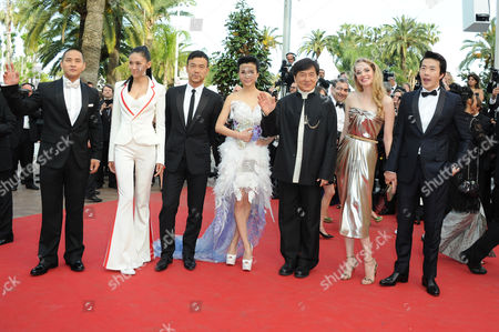Stock Picture of 'Rust and Bone' Red Carpet and Gala Openingl at Palais Des Festivals During the 65th Cannes Film Festival Chinese Zodiac - Zhang Nan Xin Liao Fan Yao Xingtong Director Jackie Chan Brett Ratner Kwone Sang Woo Laura Weissbecker and Steve Yoo