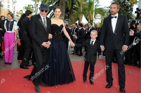 'Rust and Bone' Red Carpet and Gala Openingl at Palais Des Festivals During the 65th Cannes Film Festival Director Jacques Audiard Marion Cotillard Armand Verdure and Matthias Schoenaerts