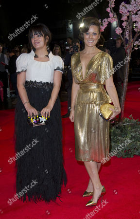 'Saving Mr Banks' Red Carpet at the Odeon Leicester During the Bfi London Film Festival 2013 Lily Allen with Her Sister Sarah Owen