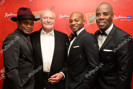 Stock Picture of 'Scottsboro Boys' Press Night at the Garrick Theatre and Afterparty at the Radisson Leicester Square Forrest Mcclendon Julian Glover Brandon Victor Dixon and Colman Domingo