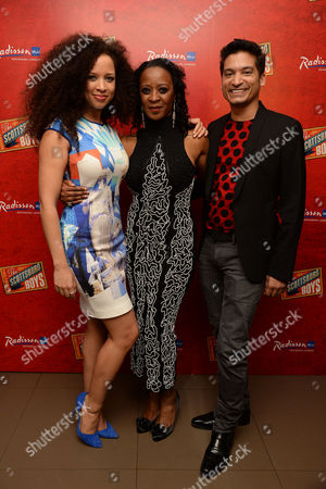 'Scottsboro Boys' Press Night at the Garrick Theatre and Afterparty at the Radisson Leicester Square Natalie Gumede Dawn Hope and Raj Ghatak