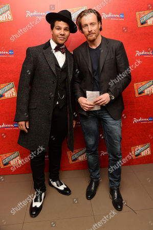 'Scottsboro Boys' Press Night at the Garrick Theatre and Afterparty at the Radisson Leicester Square Emile Ruddock and Toby Stephens