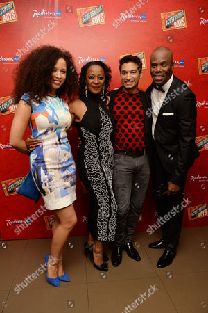 'Scottsboro Boys' Press Night at the Garrick Theatre and Afterparty at the Radisson Leicester Square Natalie Gumede Dawn Hope and Raj Ghatak with Colman Domingo