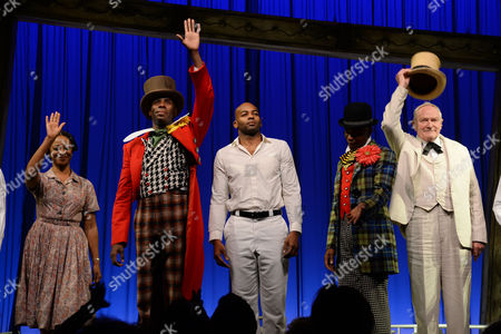 'Scottsboro Boys' Press Night at the Garrick Theatre and Afterparty at the Radisson Leicester Square Curtain Call - Dawn Hope Colman Domingo Brandon Victor Dixon James T Lane and Julian Glover