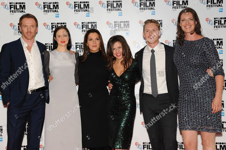 'Silent Storm' Premiere at the Vue Leicester Square During the Bfi London Film Festival 2014 Damian Lewis Andrea Riseborough Barbara Broccoli Corinna Mcfarlane Ross Anderson and Nicky Bentham