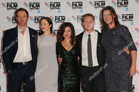 'Silent Storm' Premiere at the Vue Leicester Square During the Bfi London Film Festival 2014 Damian Lewis Andrea Riseborough Corinna Mcfarlane Ross Anderson and Nicky Bentham
