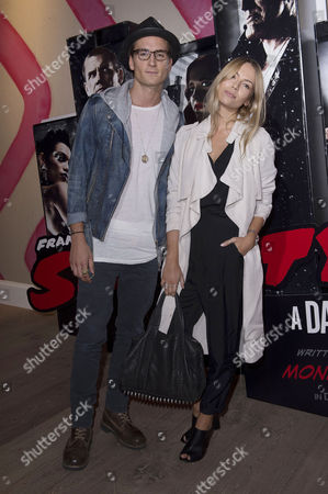 'Sin City 2' Screening at the Ham Yard Hotel Piccadilly Oliver Proudlock (made in Chelsea) and Emma Lou