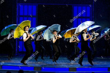 'Singing in the Rain' Press Night at the Palace Theatre and After Party at the Freemasons Hall Daniel Crossley Scarlett Strallen and Adam Cooper