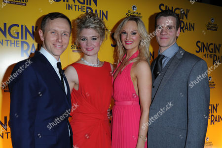 'Singing in the Rain' Press Night at the Palace Theatre and After Party at the Freemasons Hall Co-stars Daniel Crossley Scarlett Strallen Adam Cooper and Katherine Kingsley
