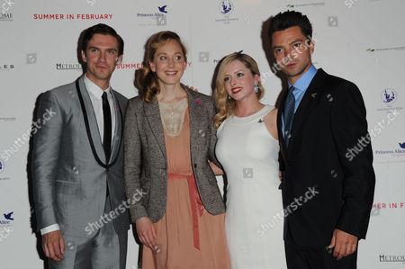 'Summer in February' London Gala Screening Curzon Mayfair Dan Stevens Hattie Morahan Mia Austen and Dominic Cooper