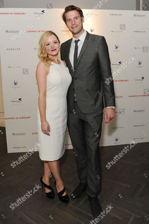 'Summer in February' London Gala Screening After Party at the Halcyon Gallery Bond Street Mia Austen with Her Fiancee Nathaniel