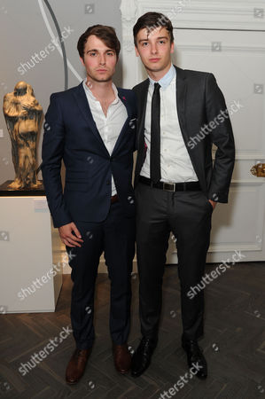 'Summer in February' London Gala Screening After Party at the Halcyon Gallery Bond Street Max Deacon with His Brother Ollie