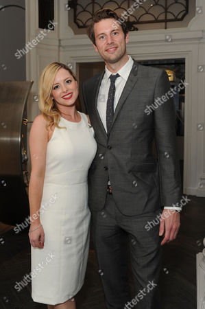 Stock Picture of 'Summer in February' London Gala Screening After Party at the Halcyon Gallery Bond Street Mia Austen with Her Fiancee Nathaniel